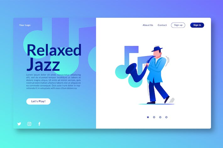Thumbnail for Relaxed Jazz - Landing Page GR
