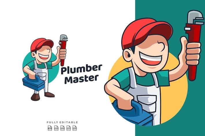Thumbnail for Plumber Master Mascot Retro