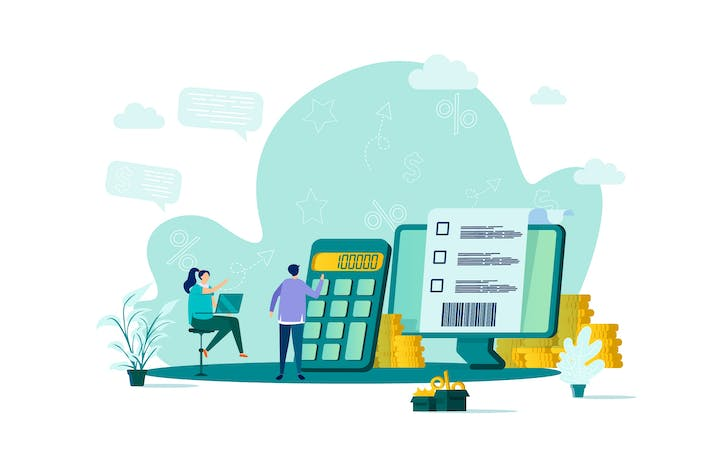 Thumbnail for Accountant Flat Concept Vector Illustration