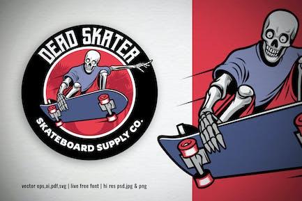 skull skater skateboard vintage logo