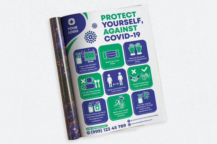 Protect Yourself, Against Covid-19 Ads Magazine