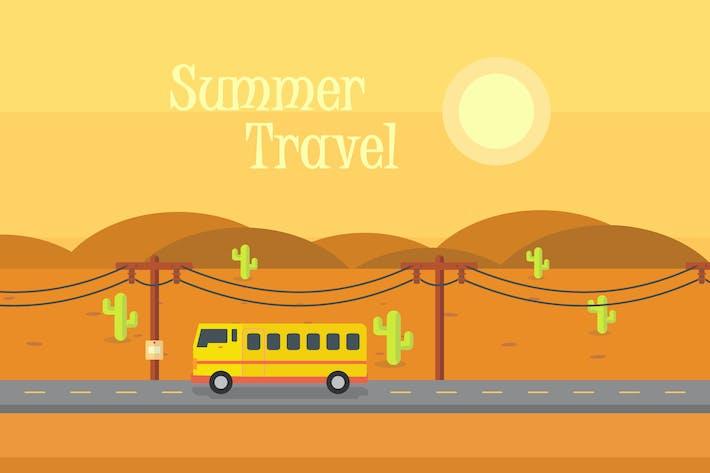 Thumbnail for Summer Traveling - Illustration Background