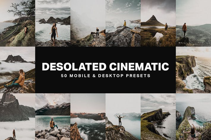 Thumbnail for 50 Desolated Cinematic Lightroom Presets and LUTs