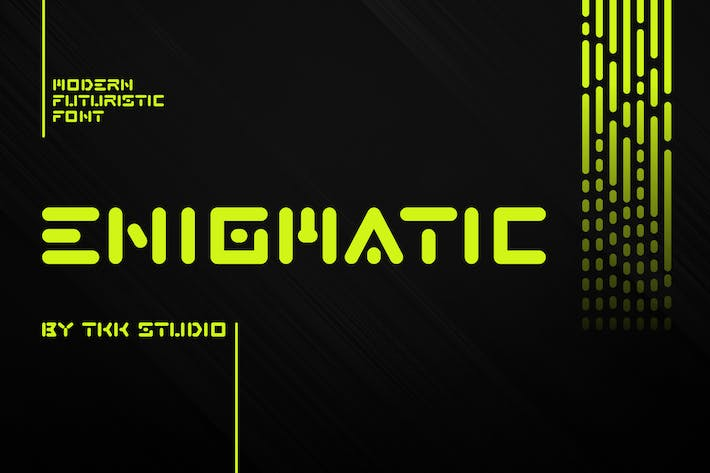 Thumbnail for ENIGMATIC - Modern Futuristic font