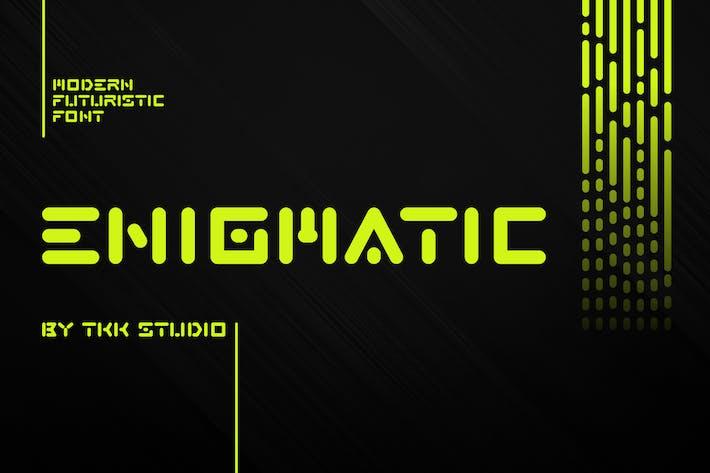 ENIGMATIC - Modern Futuristic font