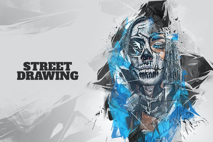 Thumbnail for Street Drawing Photoshop Action