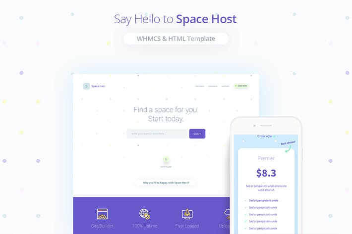Thumbnail for Space Host WHMCS & HTML Landing Page