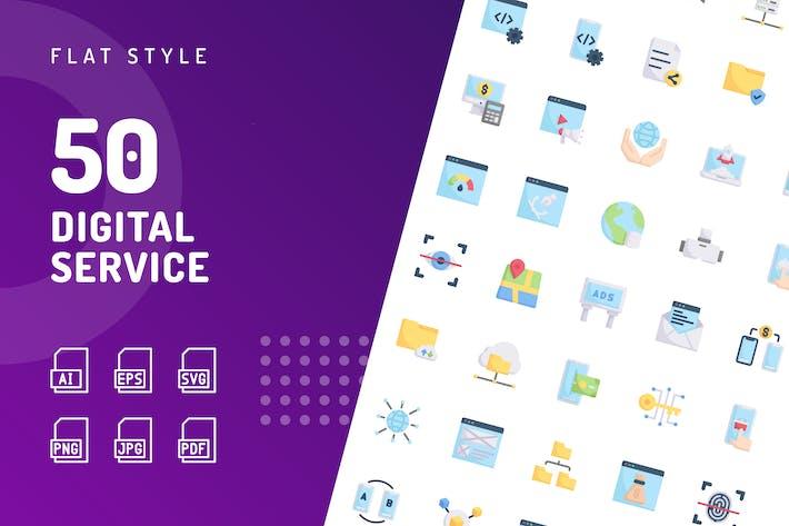 Digital Service Flat Icons