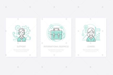 International business banners