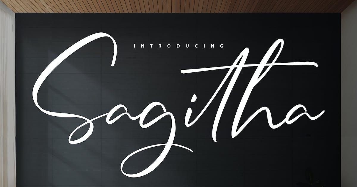 Download Sagitha   Casual & Elegant Handwriting Font by Vunira