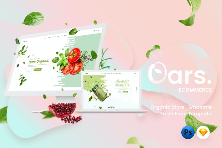 Thumbnail for Oars - Organic Store , Smoothie Template