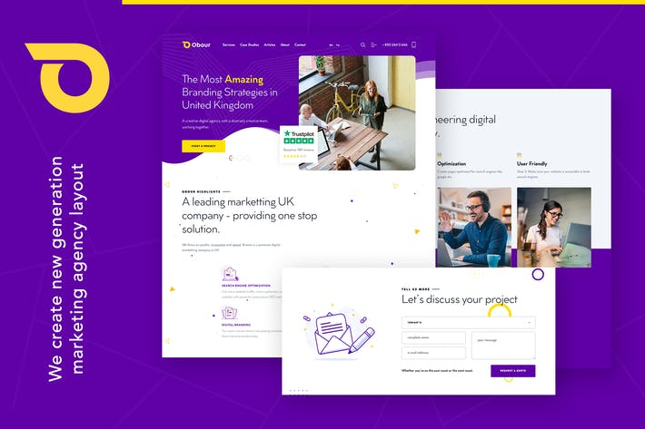 Thumbnail for Obour | Digital Marketing Agency WordPress Theme