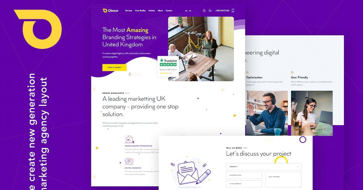 Download Obour | Digital Marketing Agency WordPress Theme by themezinho