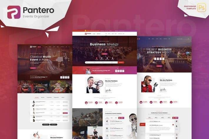 Thumbnail for Pantero - Event & Conference PSD Template