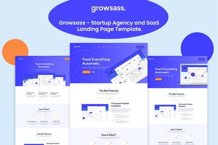 Growsass - Startup Agency and SasS Landing Page Te