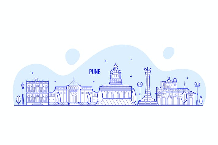 Thumbnail for Pune skyline, India