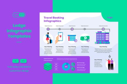 Travel Tips Infographic Template: Booking Step