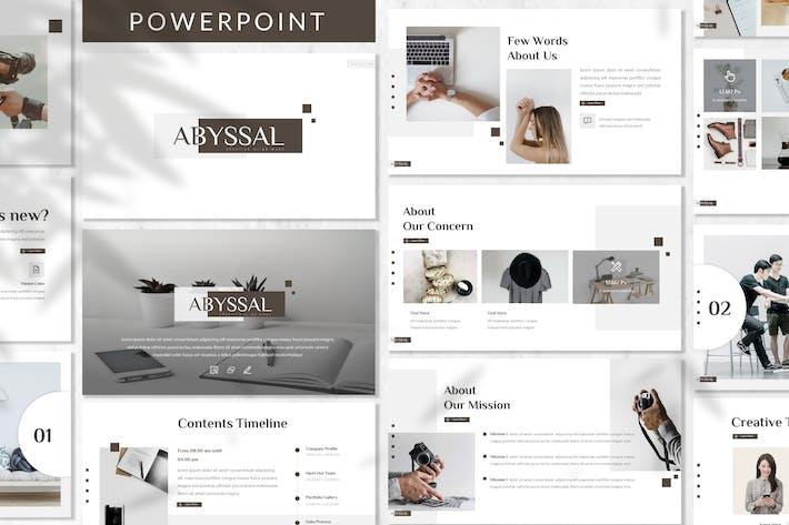 Thumbnail for Abyssal - Plantilla de PowerPoint de negocios