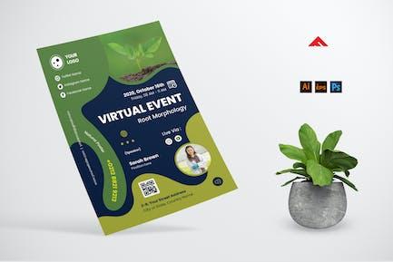Dépliant d'événement biologique en ligne