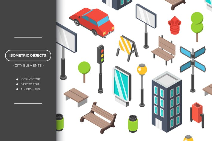 Cover Image For Isometric City Objects