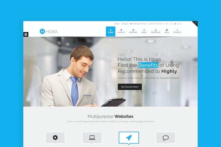 Thumbnail for Hoxa - Responsive Multipurpose Joomla Template
