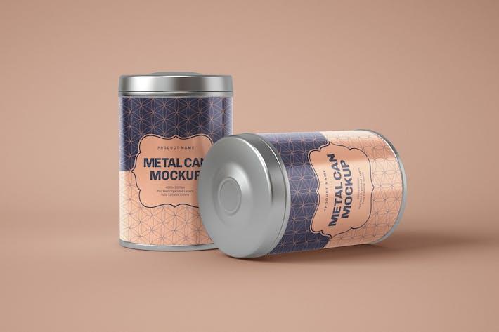 Thumbnail for Glossy Round Tin Box Mockup