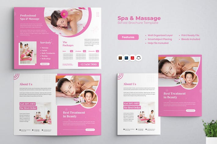 Thumbnail for Beauty Spa Bifold Brochure