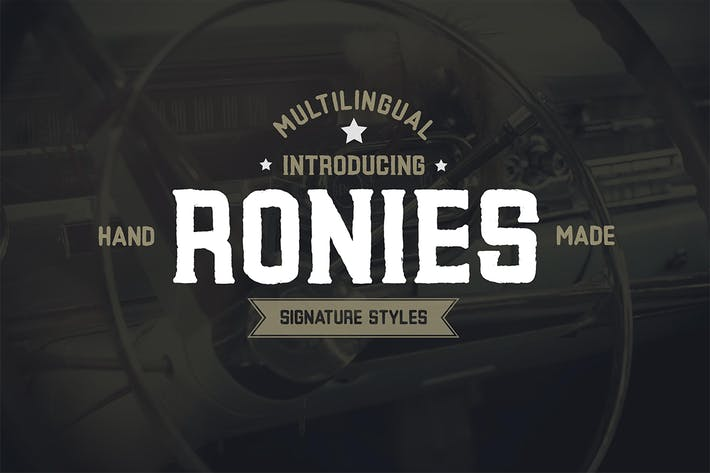 Cover Image For Ronies Vintage Font