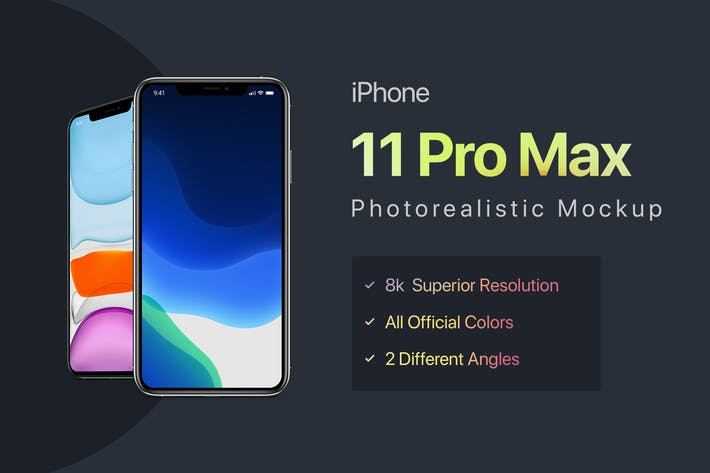 Thumbnail for iPhone 11 Pro Max Mockup
