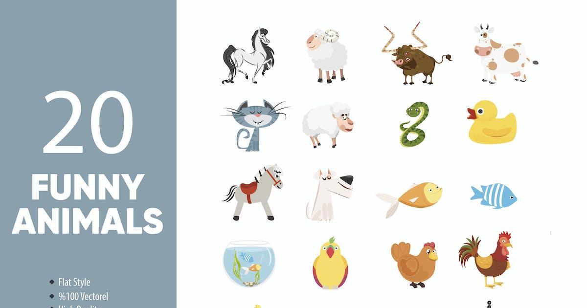 Download Funny Animals Set by M0DE0N