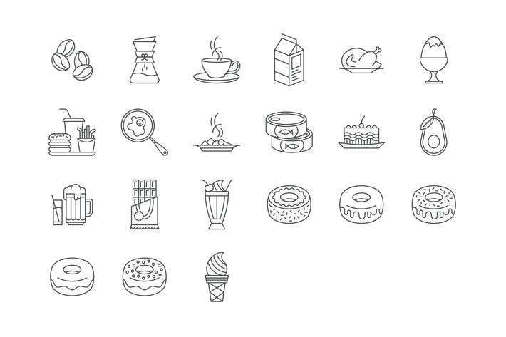Thumbnail for 21 Food and Drinks Icons