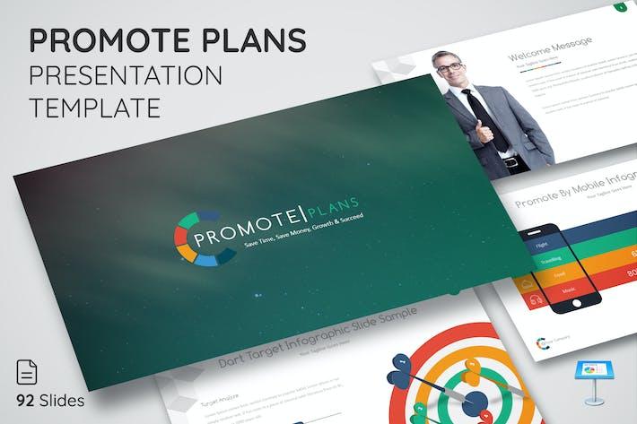 Продвижение планов - Шаблон презентации Keynote