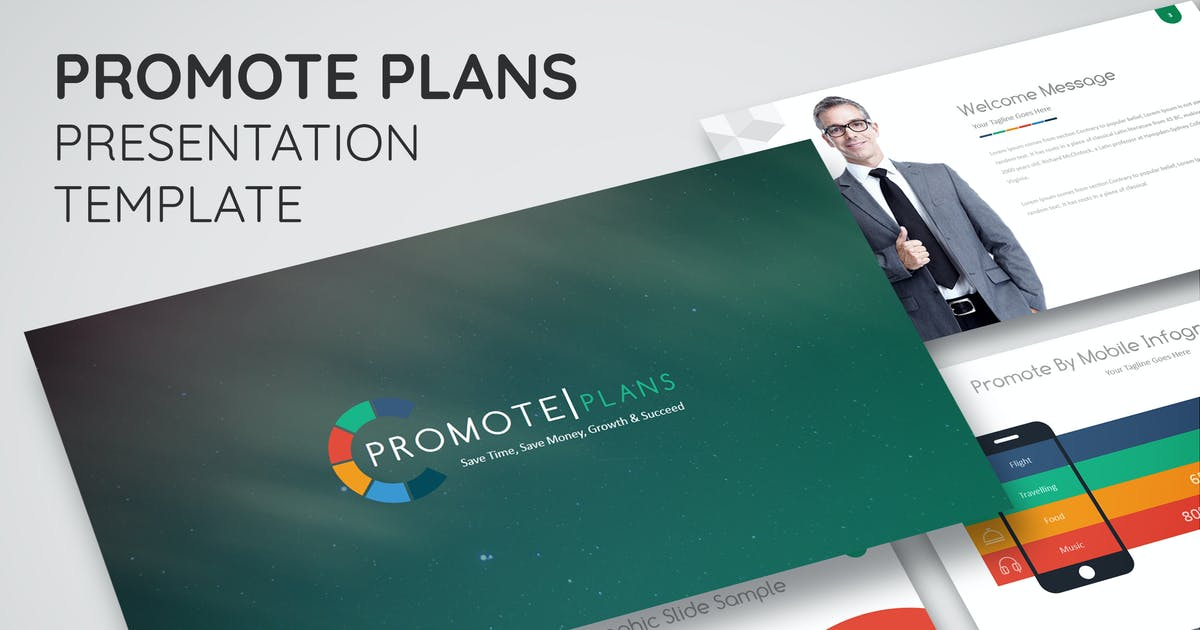 Download Promote Plans - Keynote Presentation Template by Shakersign