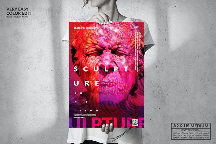 Cover Image For Art Sculpture Exhibition - Big Poster Design