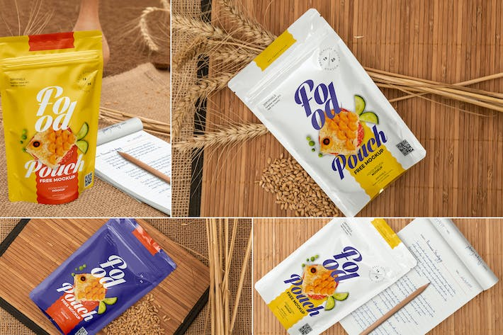 Thumbnail for Food Pouch Mockups