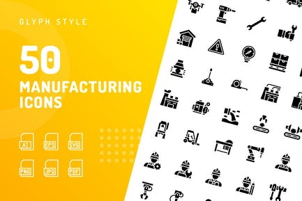 Manufacturing Glyph Icons