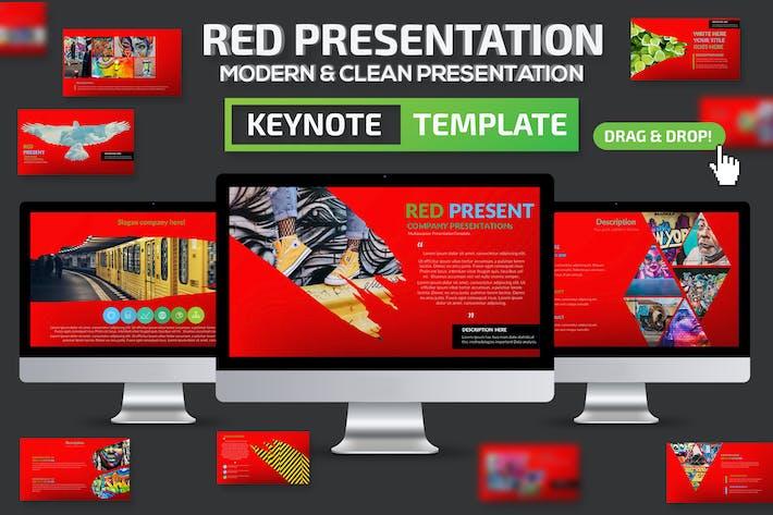 Презентация красной Keynote