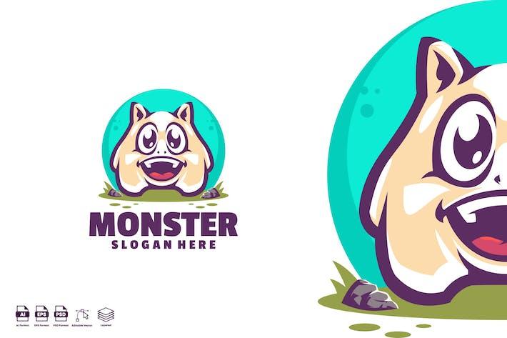 Thumbnail for Cute Monster Mascot Logo