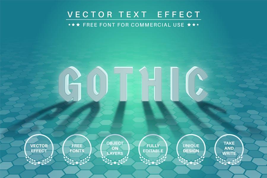 Задняя подсветка - редактируемый текстовый эффект, стиль шрифта