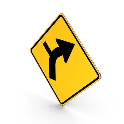 Road Sign Warning Horizontal Alignment