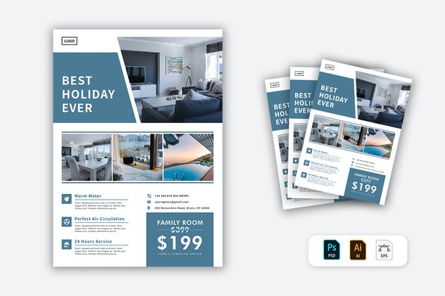 Hotel Flyer - product preview 0