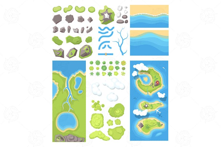 Thumbnail for Natural landscape - set of elements