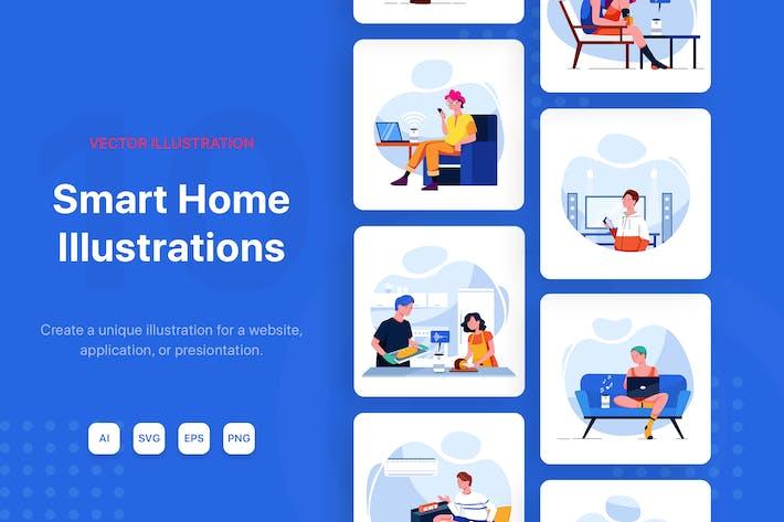 Thumbnail for Smart Home Illustrations