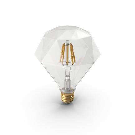 Bombilla LED de filamento con forma de zafiro