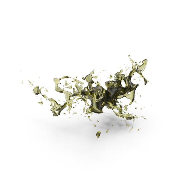 Оливковое масло всплеск