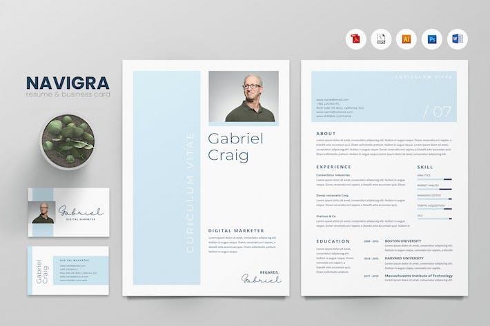 Thumbnail for Creative CV Resume & Name Card PSD, DOCX, AI No.18