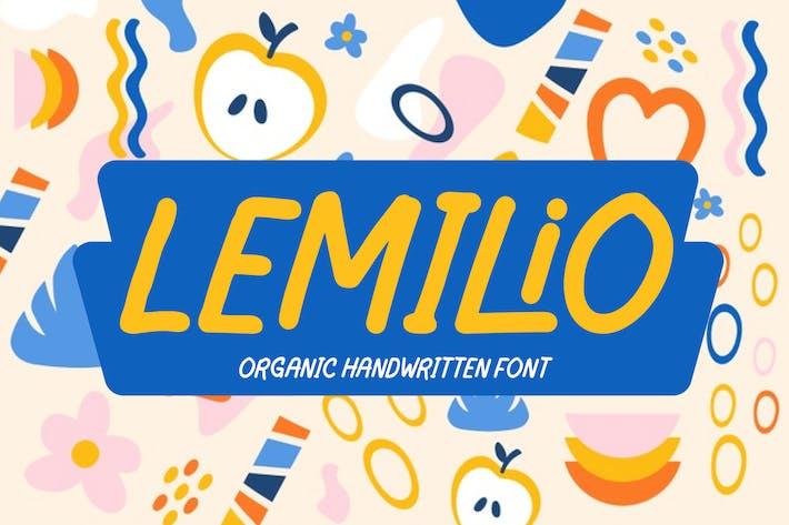 Lemilio - Fuente orgánica escrita a mano