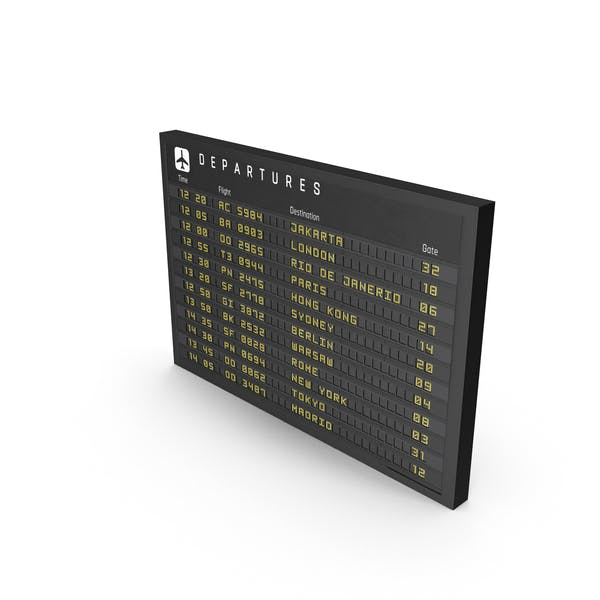 New Flight Information Sign