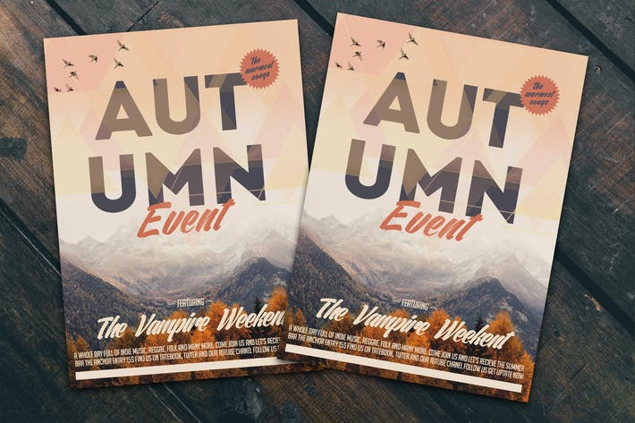 Thumbnail for Autumn Event Flyer Poster