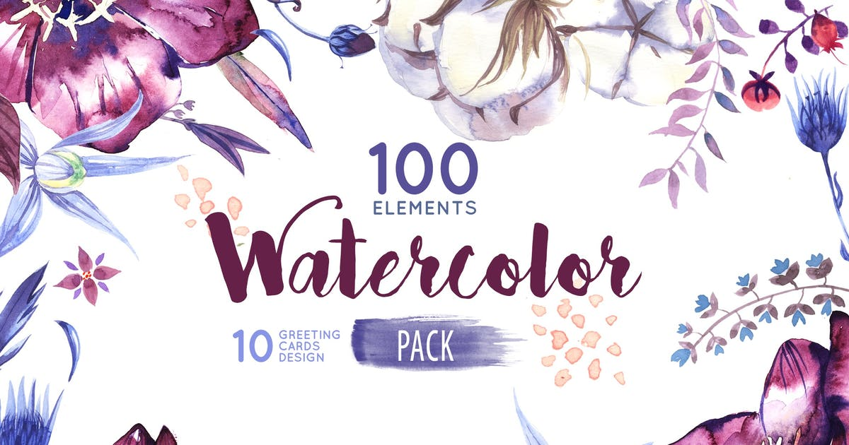 Download Watercolor Flowers Pack by 2dsight